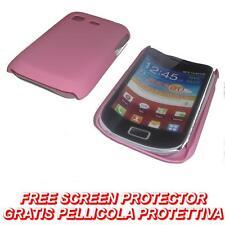 Pellicola + custodia BACK cover RIGIDA ROSA per Samsung Galaxy Pocket S5300