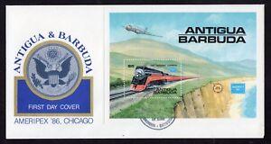 1986 Antigua & Barbuda FDC Ameripex '86 Chicago - 22.05.1986 SG MS 1018