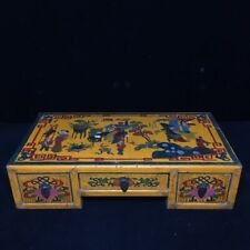 """16.8"""" old  China  antique  court  Royal use  Lacquer ware  Drawer cabinet  Table"""