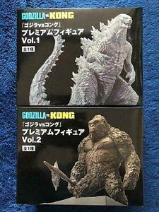 SEGA Godzilla vs Kong Premium Figure Vol.1 & 2 Godzilla and Kong Prise 2021 NEW