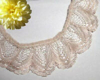 """Beige Lace Trim Ruffled 5 Yd x 1-3/8"""" Scalloped RL13V Buy any 3 Trims Get 1-FREE"""