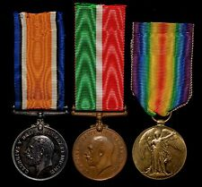 WW1 British War, Victory and Mercantile Marine Medal Group BARDEN (RNVR)