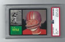 Y.A Tittle 1962 Topps Card # 102, PSA, EX / MT 6, New York Giants