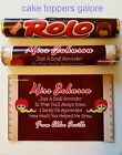 Personalised Rolo Wrapper Thank You Teacher Gift/Present Sweets Rolos