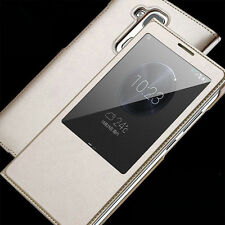 VIEW Window Auto Sleep Flip Leather Case Smart Cover for huawei ascend honor