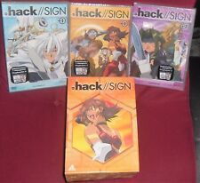 DVD ANIME/MANGA-HACK SIGN 3,4,6 + 1 LIMITED BOX game,playstation,ruolo online,ps