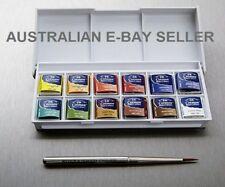 * Winsor & Newton Cotman WaterColour Sketchers 12 Pocket Box Set Watercolor*