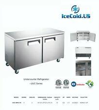 """Counter Work Top Commercial Cooler Under Counter Refrigerator 2 Door 48"""" Width"""