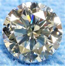 Round 8 mm 2.5 ct Modern Diamond Cut VVS Real White Sapphire Brilliant Solitaire
