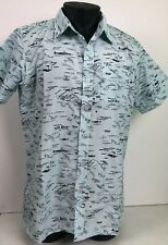 NWT Brooklyn Standard Mens Short Sleeve Button Up Size Large