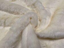 Cream Medium Pile Fur Fabric, Per Metre