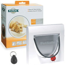 PetSafe Staywell Magnetic Cat Flap Door 932 & One key 4 way locking