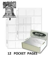 12 Pocket Pages 10 for 2.5 X 2.5 Crown Coin Holder Flips Snaps Silver Eagle Case