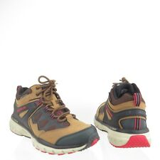 Men's Skechers Geo-Trek Sequencer Shoes Brown Leather Hiking Sneakers Size 11 M