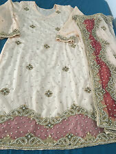 Indian Pakistani Designer Wedding Anarkali Suit salwar kameez Dress size 14