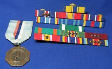 New listing Post Vietnam War Army Navy Ribbon Bars With 11 Campaign Stars & Medal Lot Of 15
