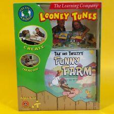 RETRO PC SOFTWARE Taz And Tweety's Funny Farm LOONEY TUNES The Learning Company