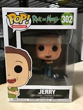 FUNKO POP JERRY w/ MEESEEKS BOX RICK & MORTY #302 AUTHENTIC NEW IN BOX