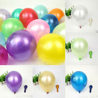 100Pcs Colorful Pearl Latex Birthday Balloon 10 inch Celebration Party Wedding