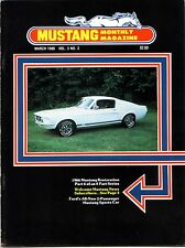 MUSTANG MONTHLY Magazine March 1980 1966 Mustang Restoration Shelby Value Guide