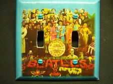 Decorative Light Switch Covers-Decoupage-THE BEATLES SGT PEPPER COVER ART-MTO