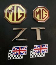 MG ZT Overlay Badge Set, rear & 2 chequerred and union jack flags ZT Letters