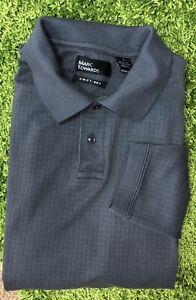 MARC EDWARDS Mens L Long Sleeve Polo Shirt Gray