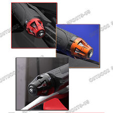 CNC LED Turn Signals Light Handle Bar End Cover Plug Hand Block Caps For KTM New