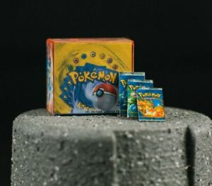 MINIATURE Pokemon First Edition Box Set Accessory for Action Figures/Dollhouse