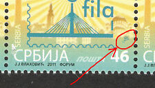 SERBIA -MNH BLOCK OF 3 STAMPS-STAMP DAY-BRIDGE-STAMP ON STAMP-ENGRAVER-2011.