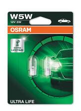 Osram W5W (501) Ultra Vida Luz Lateral Cuña Bombillas W2.1x9.5d 2825ULT-02B Twin Pack