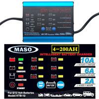 Intelligent Automatic 2/6/10A 12V car battery charger SLA Car 4WD 4-200AH AU