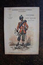 DALLY CHAPERON DE VAUX: UNIFORMES,1890, ARMéE ANGLAISE ALLEMANDE, CAHIERS ......