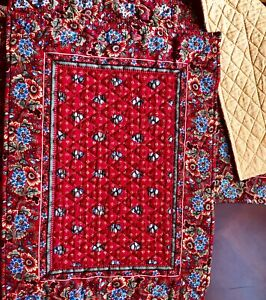 Vera Bradley Placemats Five (5) Retired Pattern Red Provential Placements