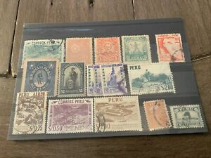 peru stamps, Ex Dealers Lot, Collection