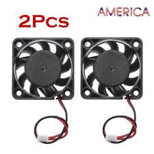 2Pcs 12V Mini Cooling Computer Fan - Small 40mm x 10mm DC Brushless 2/3-pin USA
