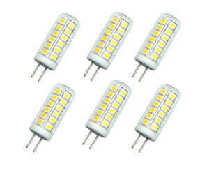 6pcs G4 GU4.0 Bi-Pin Led Bulb T4 3W 39-2835 SMD Lamp 110V 120V Ceramics Light H
