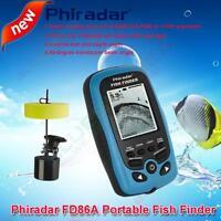 Wired Portable Fish Finder Sonar Alarm Waterproof Fishfinder Phiradar 73m/240ft
