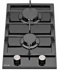MILLAR GH3020TB 30cm Built-in 2 Burner Domino Gas on Glass Hob with FFD