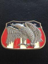 Eagle Belt Buckle Red White Blue Enamel