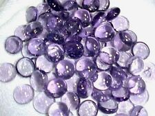 50 PCS LAVENDER  MIX FLAT GLASS MARBLES GEMS, VASE FILLERS, MOSAIC TILES $2.99