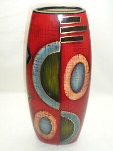 Geometric Abstract Ceramic Art Vase Modern Deco Contemporary Stunning Piece!