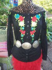 NWOT~$155~Sold Out~Embroidered Western Button Down Shirt~L/M~Roja