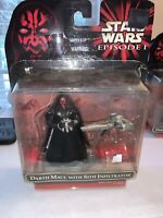 STAR WARS ~ EPISODE I DARTH MAUL WITH SITH INFILTRATOR FIGURE - 1999 New!