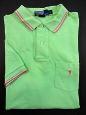 Ralph Lauren Polo Shirt SIZE LARGE Mens Green/Pink Solid