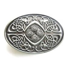 3D Celtic Knot Pewter Phoenix Infinity belt Buckle Irish detailed Medieval