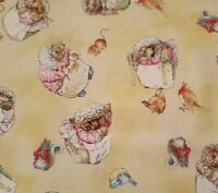 Mrs Tiggy Winkle BTY Beatrix Potter Quilting Treasures Characters Golden Tan