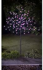 More details for solar powered 4ft outdoor decorative 128 led blossom pink tree