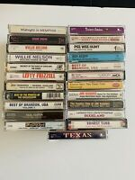 Lot of 23 Vintage Cassette Tapes Country Nelson Hunt Nabors Dixieland