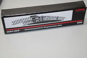 Märklin 8568 Mini Club Curved Points Left Electric Gauge Z Original Packaging